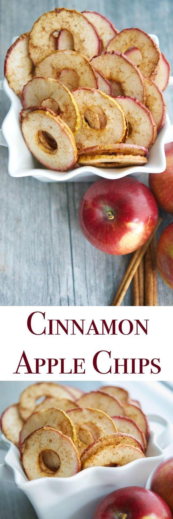 Яблочные сушки с корицей