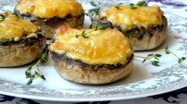 Грибы запеченные в духовке с сыром