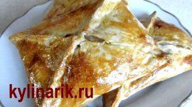 Хачапури с сыром из слоеного теста в духовке