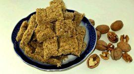 Халва из грецких орехов в домашних условиях