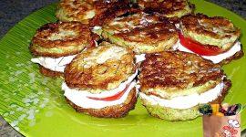 Кабачки жареные с сыром и чесноком