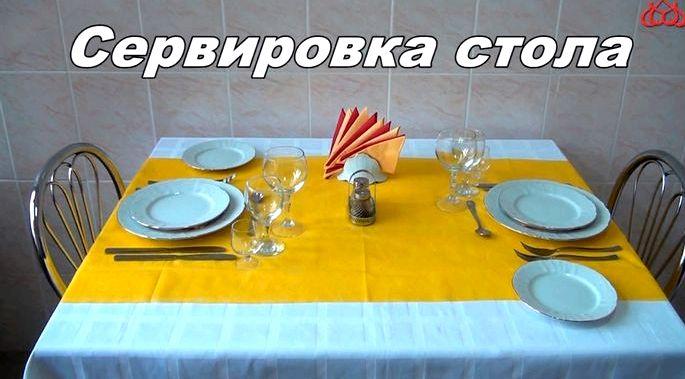 Как правильно сервировать стол к празднику тарелки размещаются по левую