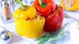 Как приготовить фаршированный перец с мясом и рисом