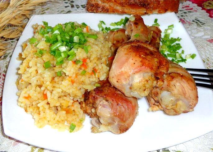 Как приготовить голень курицы в духовке глубокой миске залейте