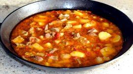 Как приготовить рагу с мясом и картошкой