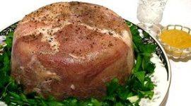 Как сделать прессованное мясо из свиной головы