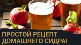 Как сделать сидр из яблок в домашних условиях простой рецепт