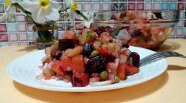 Как сделать винегрет с квашеной капустой