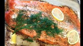 Как запечь лосось в духовке в фольге