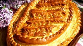 Капустный пирог на кефире в духовке