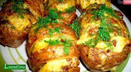 Картошка с сыром в духовке рецепт с фото
