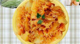 Картошка тушеная с капустой в мультиварке