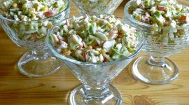 Крабовый салат рецепт классический без риса