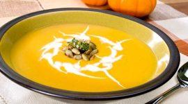 Крем суп из тыквы с сыром