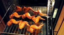 Курица гриль на решетке в духовке