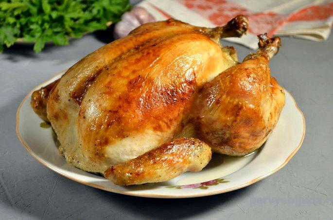 Курица в духовке с корочкой рецепт с фото Куриная тушка - до