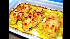 Куриные грудки с ананасом и сыром в духовке