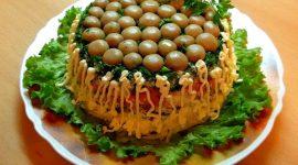 Лесная поляна с опятами салат рецепт с фото