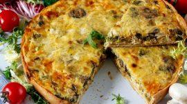Лоранский пирог с курицей и грибами рецепт