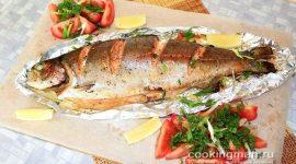 При какой температуре запекать рыбу в духовке