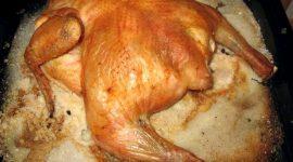 Приготовление курицы на соли в духовке