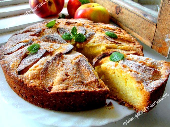 Рецепт яблочного пирога в духовке с фото высоты это где