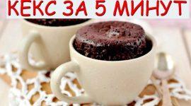 Рецепт кекса в микроволновке за 5 минут