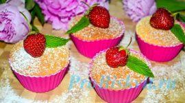 Рецепт вкусных кексов в силиконовых формочках