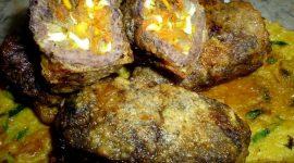 Рулет из печени с луком и морковью