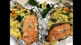 Рыба с картошкой в фольге в духовке