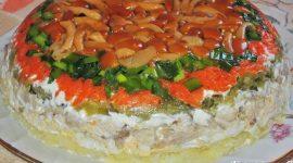 Салат лесная поляна с опятами рецепт