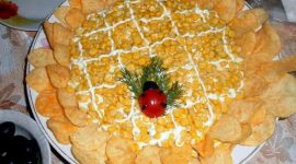 Салат подсолнух с чипсами рецепт с фото пошагово