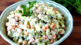 Салат зимний рецепт классический с колбасой