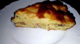 Шарлотка пышная с яблоками в духовке на кефире