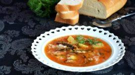 Суп из кильки в томатном соусе рецепт с фото