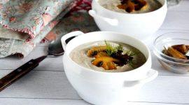 Суп пюре с шампиньонами и сливками